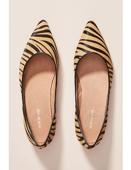 All Black Jungle Calf Hair Flats by All Black