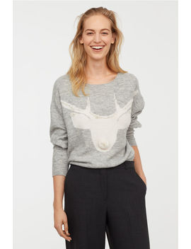 Knit Sweater With Beads by H&M