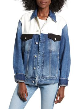 Colorblock Trucker Jacket by Calvin Klein Jeans