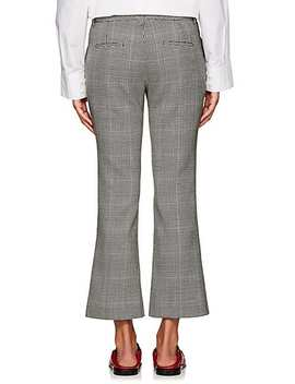 checked-wool-crop-flared-trousers by pt01