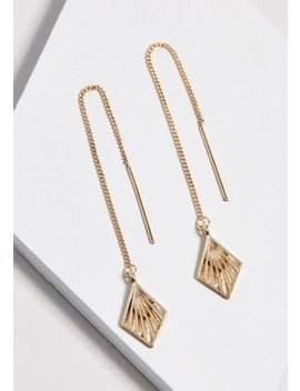 Suspended Belief Threader Earrings by Modcloth