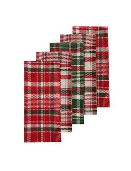St. Nicholas Square® Holiday Plaid Kitchen Towel 5 Pack by St. Nicholas Square