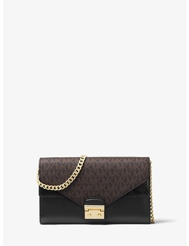 Sloan Leather And Logo Chain Wallet by Michael Michael Kors
