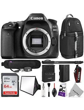 Canon Eos 80 D Dslr Camera Body W/Advanced Photo & Travel Bundle   Includes: Altura Photo Backpack, San Disk 64gb Sd Card, Monopod, Neck Strap And Cleaning Kit by Canon