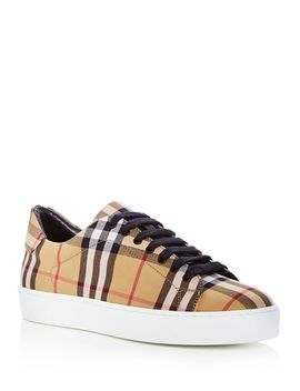 Women's Westford Vintage Check Lace Up Sneakers by Burberry