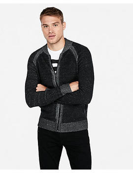 Marled Zip Front Cardigan by Express