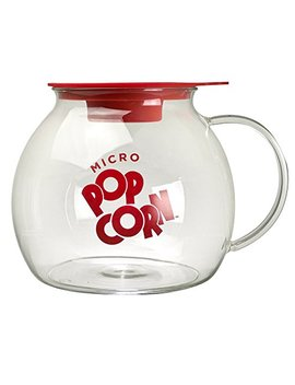Ecolution Micro Pop Popcorn Popper, 3 Qt Capacity | Glass Microwave Popcorn Maker W/ Dual Function Lid by Epoca