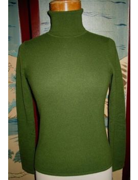 Magaschoni 100 Percents Cashmere Long Sleeve Turtle Neck Sweater Small by Magaschoni