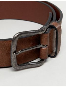 New Look   Ceinture En Similicuir   Marron Moyen by New Look