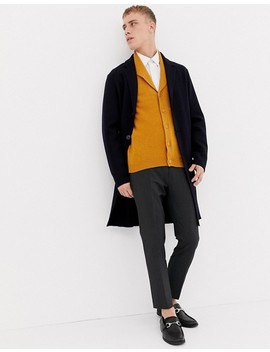 Asos Design Lambswool Shawl Cardigan In Mustard by Asos Design