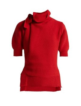High Neck Cotton Blend Sweater by Matches Fashion