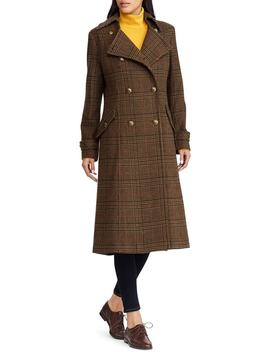 Plaid Wool Blend Coat by Lauren Ralph Lauren