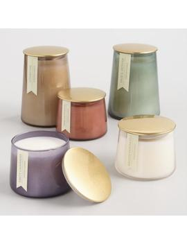 Gold Lid Glass Filled Jar Candle Collection by World Market