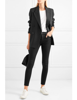 Alana Coated High Rise Skinny Jeans by J Brand