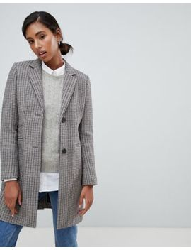 Jack Wills Check Wool Blend Overcoat by Jack Wills