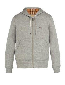 Hooded Zip Through Cotton Blend Sweatshirt by Matches Fashion
