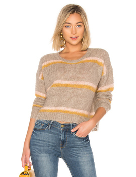 Striped Mirthe Crew Sweater by Apiece Apart