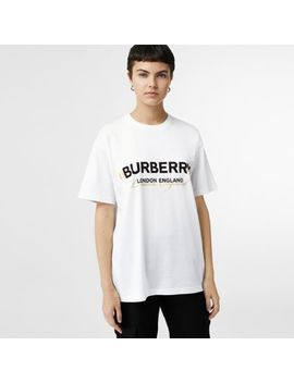 Double Logo Print Cotton T Shirt by Burberry