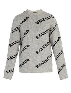 Logo Intarsia Knit Sweater by Matches Fashion