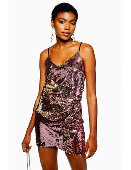 Sequin V  Neck Camisole Top by Topshop