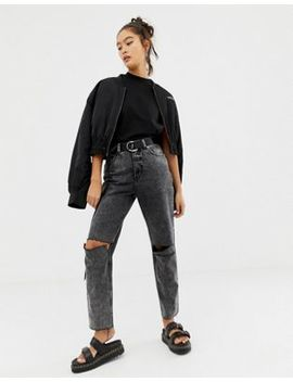 Cheap Monday Donna Slash Mom Jean With Recycled & Organic Cotton by  Cheap Monday
