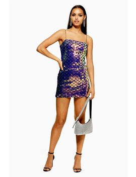 Diamond Sequin Slip Dress by Topshop