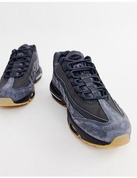 Nike Air Max 95 Ultra Trainers In Grey Aj2018 002 by Nike