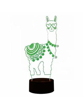 Whatook Alpaca Llama 3 D Optical Illusion Lamp, Changeable Touch Sensor Led Night Light Toys For Children Kids Decor For Home Baby Room(Alpaca) by Whatook