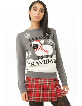 Fleece Navidad Graphic Sweater by Forever 21