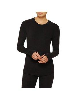 Climate Right By Cuddl Duds Women's Stretch Fleece Warm Underwear Longsleeve Top (Sizes S 3 X) by Climate Right By Cuddl Duds
