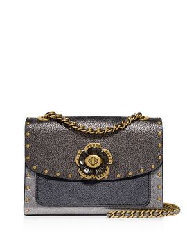 Parker 18 Signature Coated Canvas, Metallic & Exotic Leather Convertible Shoulder Bag by Coach