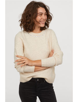Sweater With Rhinestones by H&M