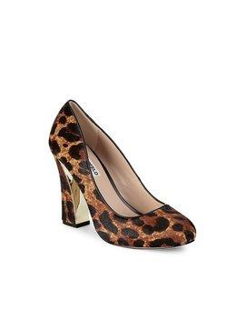 Clari Leopard Print Calf Hair Pumps by Karl Lagerfeld