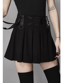Menacing Magic Pleated Skirt by Widow