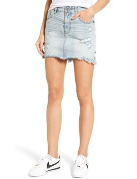 2020 Distressed Denim Miniskirt by One Teaspoon