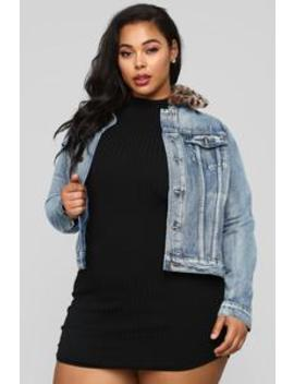 The Purrfect Jacket   Denim by Fashion Nova