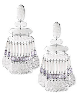Nicola Silver Statement Earrings In Lilac Crystal by Kendra Scott