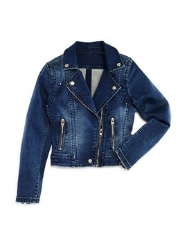 Girls' Stretch Denim Moto Jacket   Big Kid by Blanknyc
