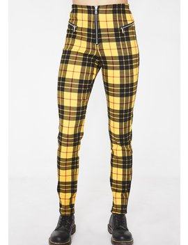 Plaid Pearl Pants by Tiger Mist