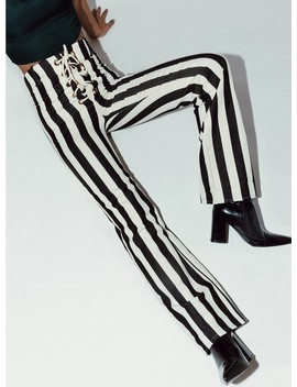 Jagger & Stone Thelma Stripe Pants Black by Jagger & Stone
