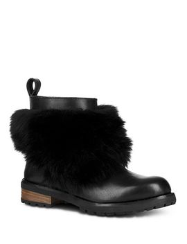 Women's Otelia Round Toe Leather & Sheepskin Booties by Ugg®