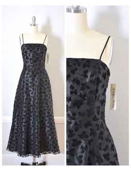 Vintage 90s Chiffon Party Dress by Etsy