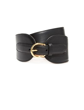 Wide Leather Double Tab Belt by W.Kleinberg