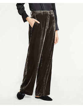 Petite Velvet Smoking Pants by Ann Taylor