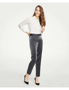 Shimmer Elastic Back Ankle Pants by Ann Taylor