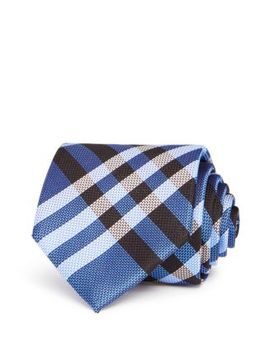 Clinton Textured Check Classic Tie by Burberry