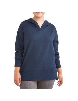 Women's Plus Size Hooded Tunic Sweatshirt by Avia