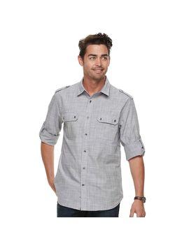 Men's Rock & Republic Textured Button Down Shirt by Kohl's