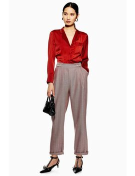 Herringbone Mensy Trousers by Topshop