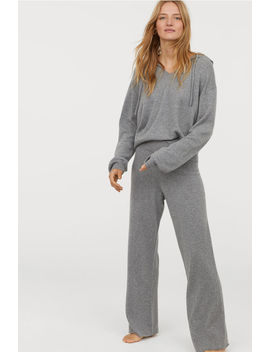 Широкие кашемировые брюки by H&M